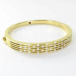 Roberto Coin Roberto Coin 6 Bracelet Classica Row Bangle 1.05cts Diamond 18k Yg