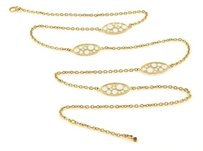 Roberto Coin Roberto Coin Bollicine Station Enamel 18k Yellow Gold Long Chain Necklace