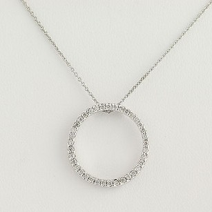 Roberto Coin Roberto Coin Circle Of Life Diamond Pendant Necklace 15 34 - 18k Gold .33ctw