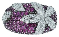 Roberto Coin Roberto Coin 18k White Gold Pink Sapphire Diamond Ring