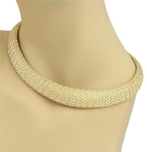 Roberto Coin Vintage Roberto Coin 18k Yellow Gold Woven Silk Graduated Collar Necklace