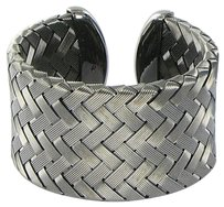 Roberto Coin Roberto Coin 5th Season 45mm Wide Woven Cuff Blackened Sterling Silver
