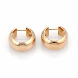 Roberto Coin Roberto Coin 18k Rose Gold Puffed Round Hoop Earrings Wpouch