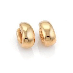 Roberto Coin Roberto Coin Puffed 13mm Wide Oval Hoop Earrings In 18k Rose Gold