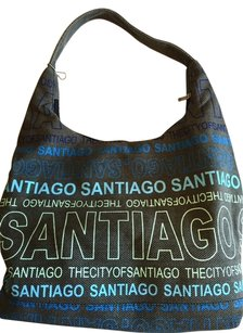 Robin Ruth Canvas Santiago Travel Tote in Grey/Blue/Green