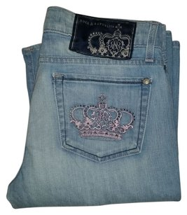 Rock & Republic Pink Crown Boot Cut Jeans-Light Wash