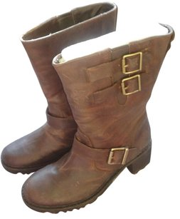 Rockport Buckle Openings Rugged Weather Brown Boots