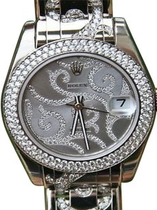 Rolex White Gold Diamond Bezel 81339