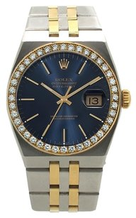 Rolex 17013 Datejust Two-Tone 1ct diamond bezel & blue dial Mens Quartz Watch