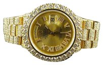 Rolex 18k Mens 23.75 Ct Yellow Gold Rolex Presidential Day-date 36mm Diamond Watch