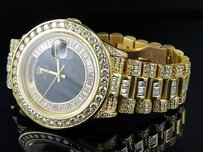 Rolex 18k Mens Yellow Gold Rolex President Day-date 36mm Baguette Diamond Watch 19.5ct
