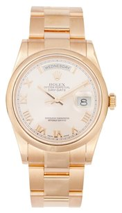 Rolex 18K Rose Gold Day-Date White Dial 36mm Men's Presidential Watch