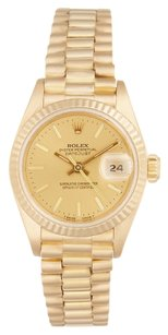 Rolex 18K Yellow Gold Datejust Champagne Dial 26mm Ladies Presidential Watch