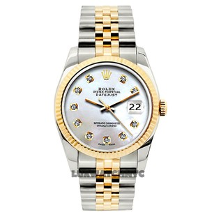 Rolex 26MM Ladies Datejust Gold S/S with Box & Appraisal Watch