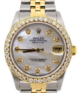 Rolex 31MM ROLEX DATEJUST 2-TONE DIAMOND WATCH WITH ROLEX BOX & APPRAISAL