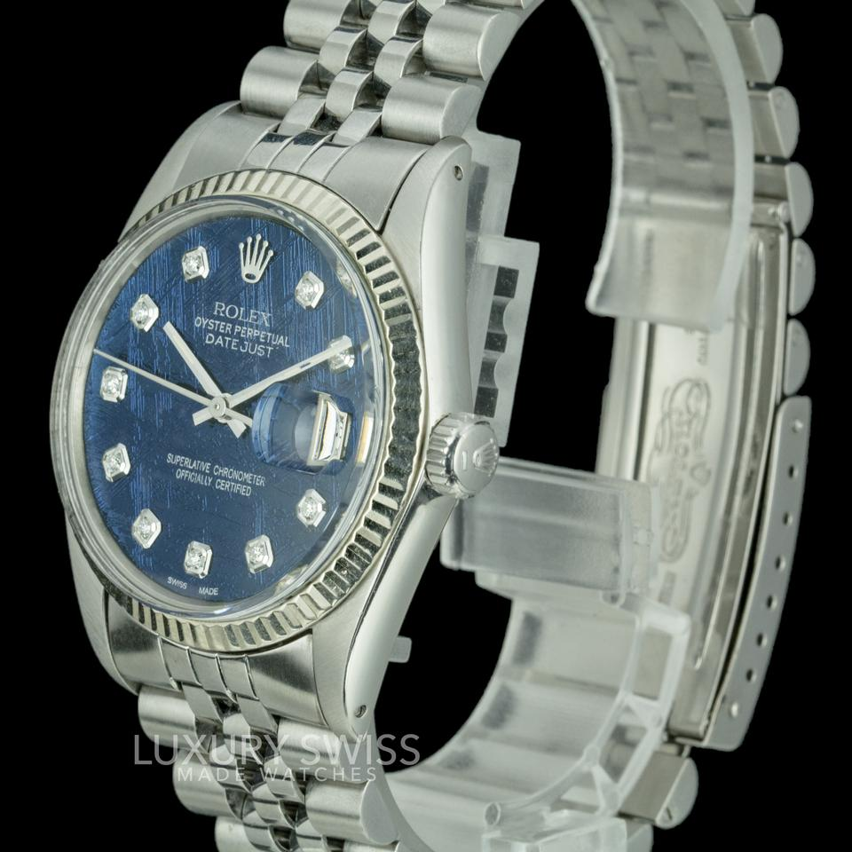 jubilee datejust watches rolex watch rolexdatejust pin women fluted silver diamond bracelet bezel
