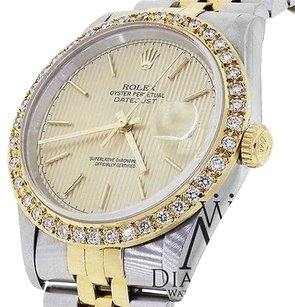 Rolex Classy Rolex Datejust 16233 36mm Two 2 Tone 18k Gold Stainess Steel