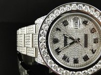 Rolex Ct Mens Fully Iced Out Genuine Diamond Rolex Date Just Ii 46mm Watch