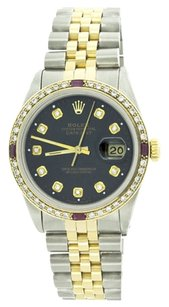 Rolex Rolex DateJust Yellow Gold and Stainelss Steel Custom Diamond and Ruby Men's Watch