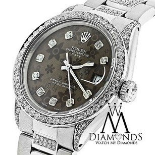 Rolex Diamond Rolex 15200 Mm Stainless Steel Watch Flower Chocolate Diamond Dial