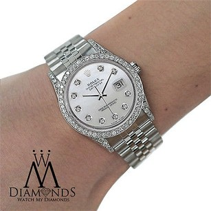 Rolex Diamond Rolex Datejust 16234 36mm Mother Of Pearl Dial Stainless Steel