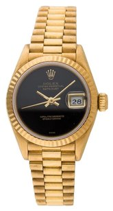 Rolex Rolex Datejust 18k Yellow Gold Black dial Ladies Presidential Watch