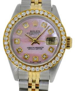 Rolex Ladies Rolex DateJust 26mm Two Tone 18kt Gold Steel Diamond Watch