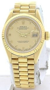 Rolex Ladies Rolex Oyster Perpetual Datejust 18k Yellow Gold 69178
