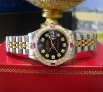 Rolex Ladies Rolex Oyster Perpetual Datejust Diamond Stainless Steel Yellow Gold Watch