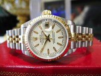 Rolex Ladies Rolex Oyster Perpetual Datejust Gold Stainless Steel Watch C 1994