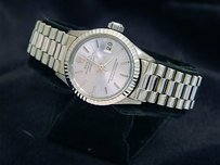 Rolex Ladies Rolex Solid 18k White Gold Datejust President Watch Wsilver Dial 6917