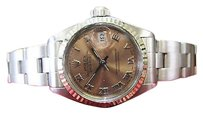 Rolex Ladies Vintage Rolex Oyster Perpetual Datejust Copper Salmon Dial Steel Watch