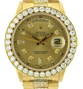 Rolex MEN'S ROLEX DAY-DATE 18K GOLD PRESIDENT 9 CTDIAMOND WATCH