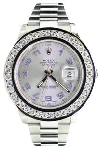 Rolex Mens Custom Rolex Mm Date Just Genuine Diamond Watch Ct.