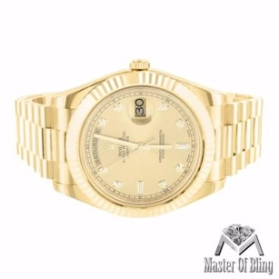 Rolex Day Date Ii Rolex Watch 41mm Diamond Dial Presidential 18k Gold 218238