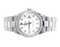 Rolex Mens Excellent Rolex Datejust Oyster Stainless Steel Diamond Watch With 2.15 Ct