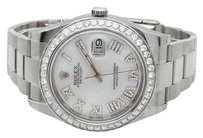 Rolex Mens Mm 116300 Rolex Datejust Ii White Mother Of Pearl Roman Diamond Watch