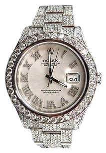 Rolex Mens Mm Custom Datejust Ii Watch With 22.5 Ct Diamond And Roman Number Dial