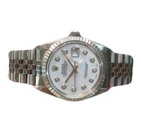Rolex Mens Rolex Datejust Diamond Dial Stainless Steel Watch