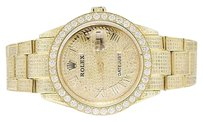 Rolex Mens Rolex Datejust Oyster Stainless Steel Gold Plated 38mm Diamond Watch Ct