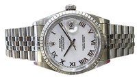 Rolex Mens Rolex Oyster Perpetual Datejust Stainless Steel Roman Numeral Watch