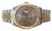 Rolex Mens Rolex Oyster Perpetual Datejust Two Tone Yellow Gold Stainless Steel Watch