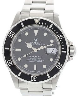 Rolex Mens Rolex Oyster Perpetual Submariner 16610 Date Stainless Steel