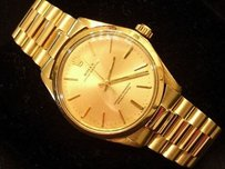 Rolex Mens Rolex Solid 14k Yellow Gold Oyster Perpetual W President Style Band 1005