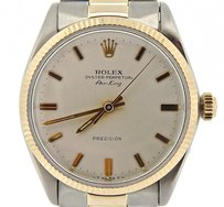 Rolex Mens Rolex Stainless Steel14k Yellow Gold Air-king Precision No-date Watch 5501