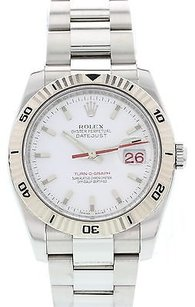 Rolex Mens Stainless Steel Rolex Date Just Turn-o-graph 16264