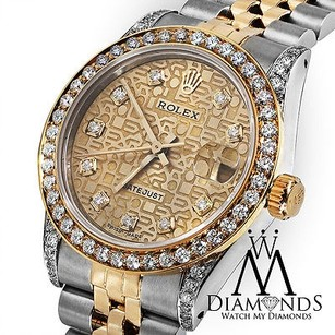 Rolex Mid-size Ladies Rolex 78273 Datejust Tone 31mm Jubilee Diamond Dial Bezel