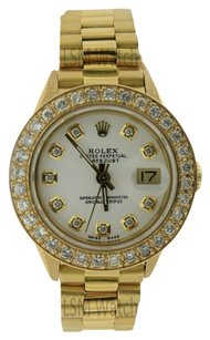 Rolex Preowned Rolex Datejust President 18K Gold Diamond Watch