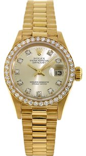 Rolex Rolex 18K Original Diamond Dial Ladies Presidential Watch