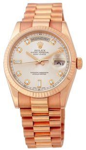 Rolex ROLEX Day-Date 18K Rose Gold Custom Diamond Men's Presidential Watch
